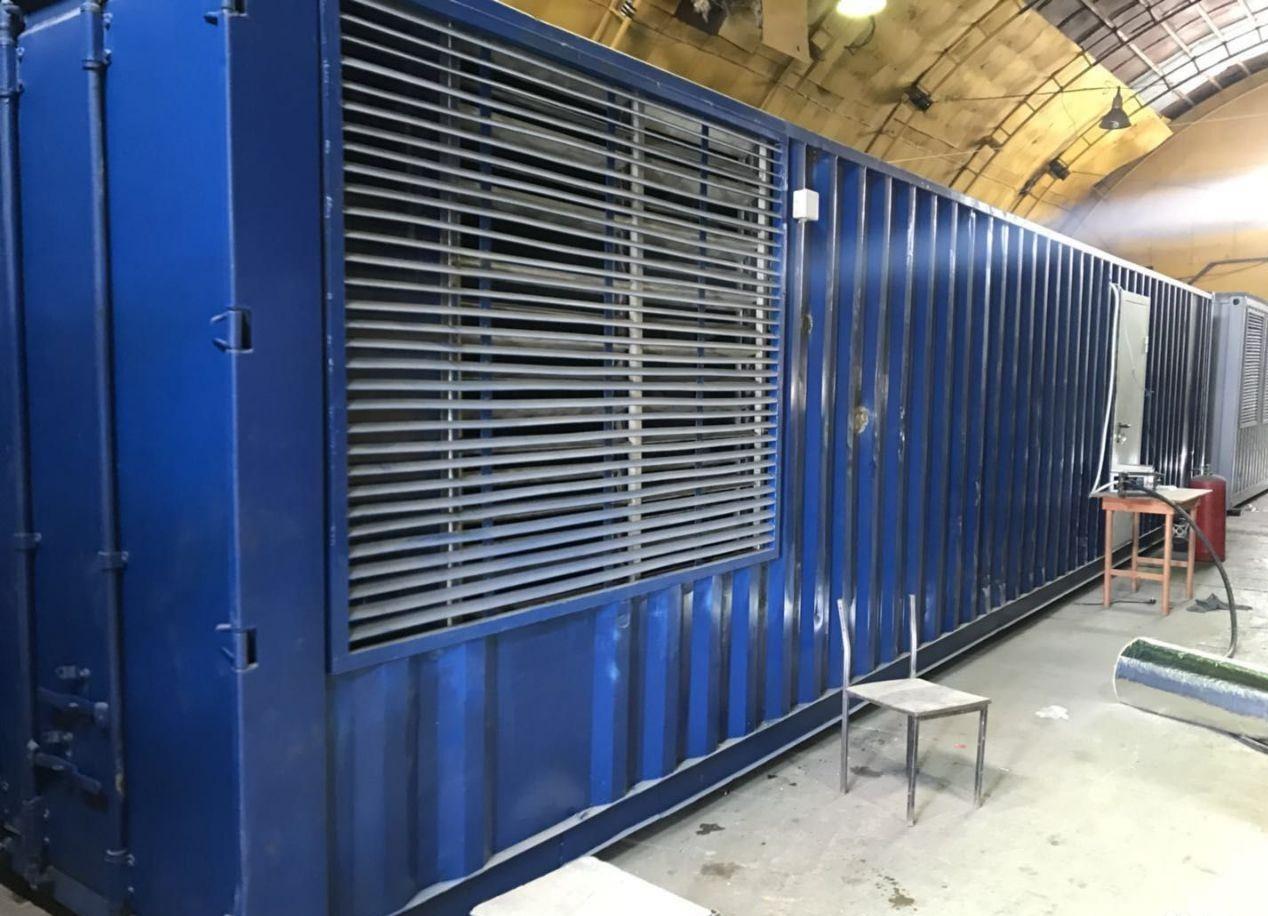 40 футовый контейнер для майнинга криптовалют купить в Москве. Вместимость контейнера: 192 асика или 96 ферм.