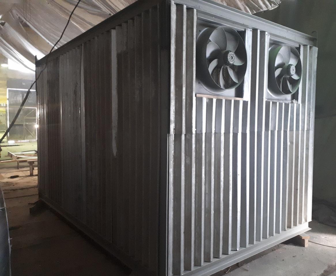 Контейнер для майнинга в металлическом сварном контейнере на 48 асиков или 24 майнинг фермы купить в Москве.